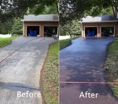 before after residential driveway repair danville va